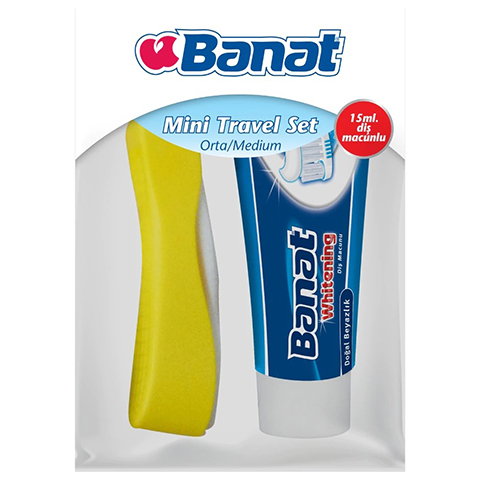 Banat Mini Travel Macun Fırça Seti